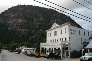 An example of the historic buildings in Ouray.   All of Main Street is registered as a National Historic District.