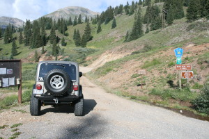 Black Bear Pass Trail head.