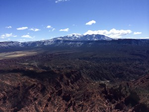 The La Sal mountains.